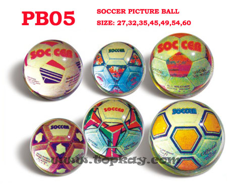 topkay:Picture Soccer bouncy ball